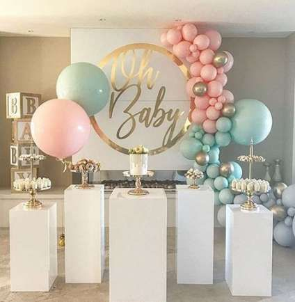 Baby Reveal Backdrop Decoration 25 Ideas Baby Baby Reveal Party