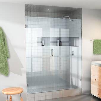 Rialto 34 X 58 Hinged Frameless Tub Door Frameless Shower Doors Shower Doors Frameless Shower