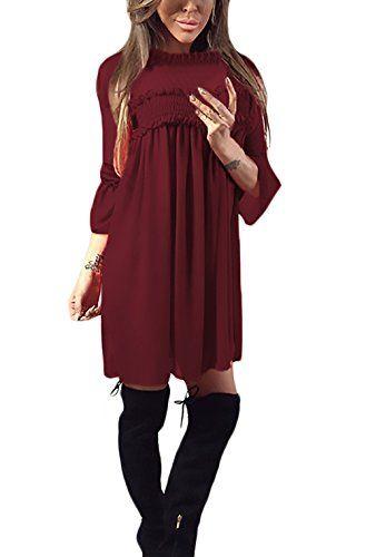 size 40 75355 13a20 Donna Vestiti Chiffon Eleganti Invernali Autunno Ragazza ...