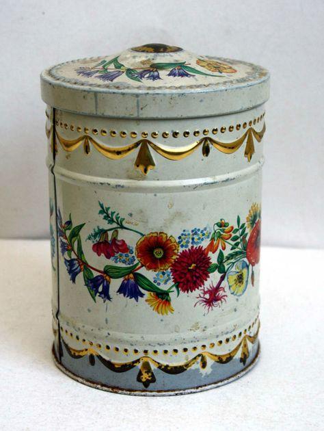 Mazzo Di Fiori Sperlari.Scatola In Latta Sperlari Cremona Caramelle Vintage Anni 60