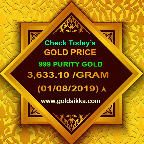 24 Carat Gold Rate In Hyderabad Per Gram Goldsikka Jewels Pvt Ltd Gold Goldrate Goldtrade 22carat 24ca Gold Price Today Gold Price Gold Rate