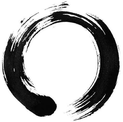 In Zen Buddhism, an ensō is a circle that is hand-drawn in one or two uninhibited brush strokes to express a moment when the mind is free to let the body create. / The ensō symbolizes absolute enlightenment, strength, elegance, the universe, and mu (the void) • Also buy this artwork on wall prints, apparel, stickers, and more.