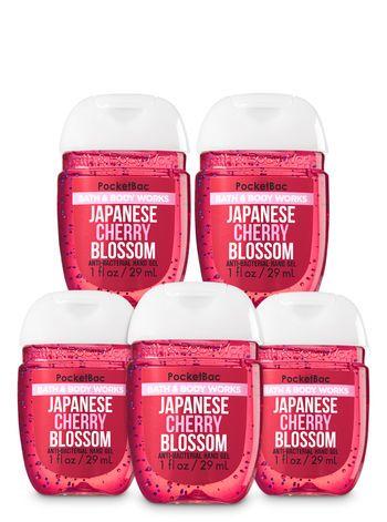Japanese Cherry Blossom Pocketbac Hand Sanitizer 5 Pack Bath And
