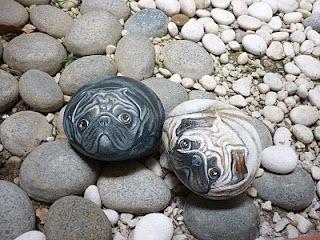 Vien Artcorner Pebble Pug Pugpainting Pugs Pug Art Painted Rocks