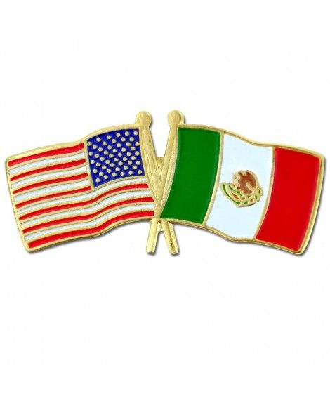 PinMart USA and Australia Crossed Friendship Flag Enamel Lapel Pin