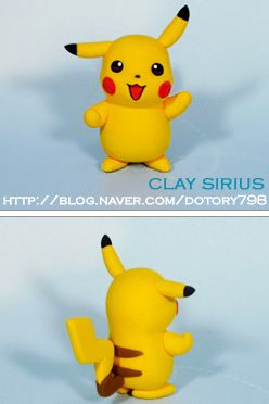 Turorial : How to make Pikachu (Pokemon) in polymer clay / Tutoriel : Réaliser Pikachu (Pokemon) en pâte polymère Vous pouvez cliquer sur l'image pour l'agrandir ^^ En vidéo : source : http://blog.naver.com/PostThumbnailView.nhn?blogId=dotory798&logNo=100102668535&categoryNo=111&parentCategoryNo=...