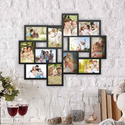 Collage Picture Frame With 12 Openings For 4x6 Photos By Lavish Home Black Collage Picture Frames Frames On Wall Picture Frames