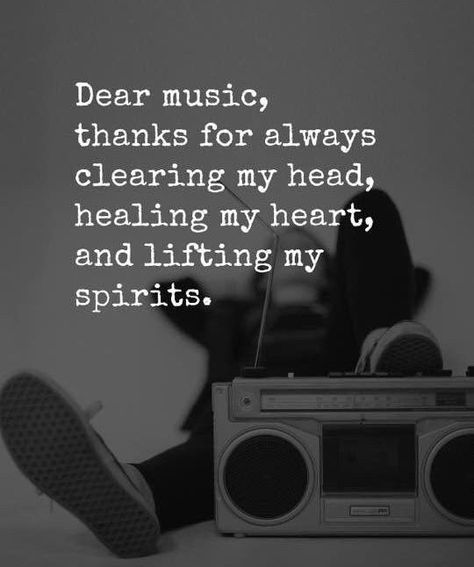 Dear music, thanks for always clearing my head,  healing my heart, and lifting my spirits. 🎻 #Music #Quote #Words #Musician #Violin #Radio #Tattoo #MusicTattoo