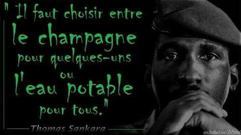 Thomas Sankara Eau Potable Afrique Et Champagne