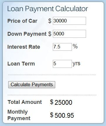 Car Payment On 30000 >> Calculate Car Payment Driverlayer Search Engine Best Used Cars