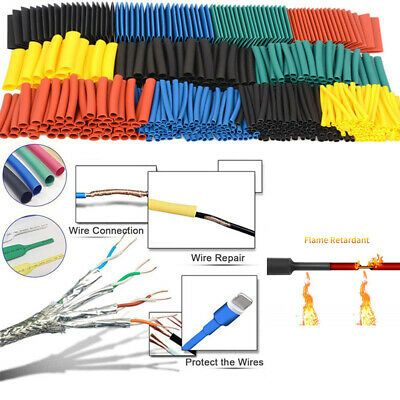 Assortment Shrinkable Tube Heat Shrink Tubing Wire Cover Cable Sleeve Kit