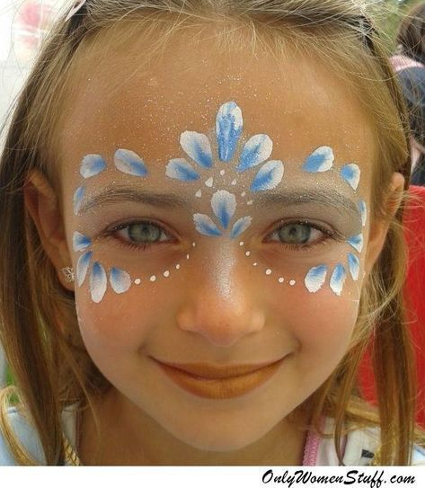 15 Easy Kids Face Painting Ideas For Little Girls Diy Face Painting Easy Christmas Face Painting Face Painting Designs
