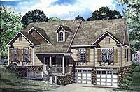Plan 59514nd Vaulted And Open Great Room Split Level House Plans Monster House Plans House Plans