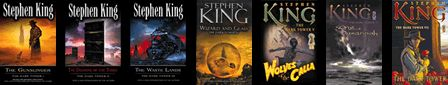 "The Dark Tower Series by Stephen King. ""The man in black fled across the desert, and the gunslinger followed."""