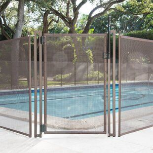 Poolfencediy Long Pool Diy Section Vinyl Fencing Wayfair In 2020 Vinyl Gates Mesh Pool Fence Pool Fence
