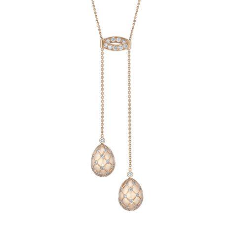 ef9aabe02 Fabergé Treillage Rose Gold Polished Diamond Necklace #Fabergé #Treillage  #diamond #pendant