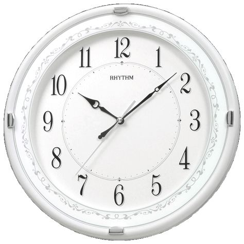 Diameter 33 8 Cm Depth 4 5 Cm Silent Silky Movement White