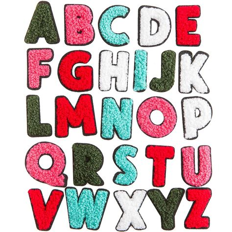 52 Pieces Iron On Patches, A-Z Patch Letters (1.4 x 1.3 in)