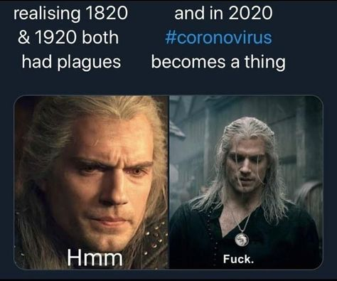 """'Geralt's Hmm' Ushers In A New Witcher Meme - Funny memes that """"GET IT"""" and want you to too. Get the latest funniest memes and keep up what is going on in the meme-o-sphere. Dankest Memes, Funny Memes, Funny Gifs, Funniest Memes, Art Memes, Anxiety Cat, Dnd Funny, Drake And Josh, Dungeons And Dragons Memes"""
