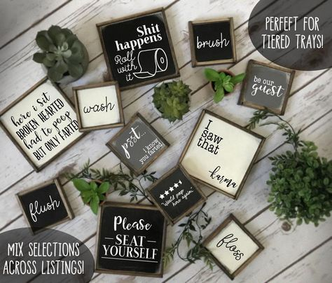 Rustic farmhouse style signs now in two sizes Tiered tray image 4