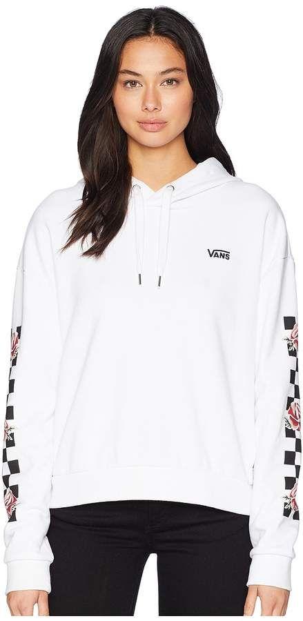 Womens Vans Checkered Cropped Hoodie White | Journeys