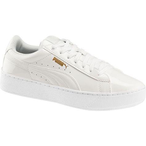 Puma Sneaker VIKKY PLATFORM PATENT weiß Mit dem Sneaker