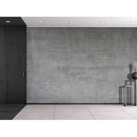 Wall26 Gray Striped Textured Cement Wall Mural Removable Vinyl Wallpaper Home Decor 66x96 Inches Walmart Com In 2020 Cement Walls Concrete Wall Vinyl Wallpaper
