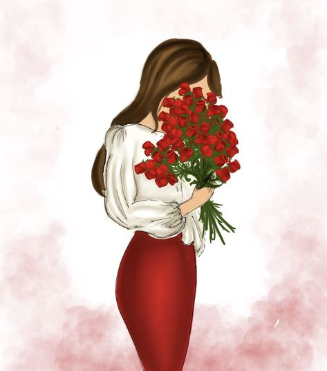 #Fashion #fashionillustration #illustration #moda #ilustraciones #romance #romantic #journal #journaling #redvelvet #redskirt #tumbrl #roses #redroses