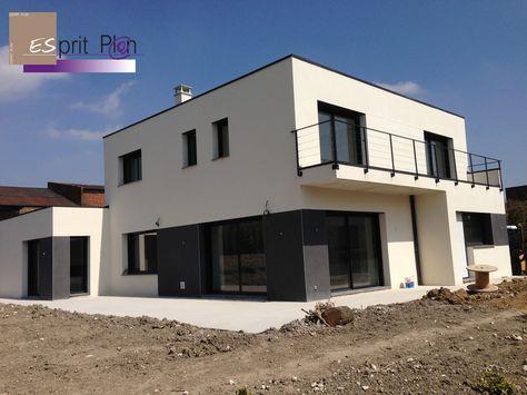 maison toit plat contemporaine Meyzieu Grand Large Maison