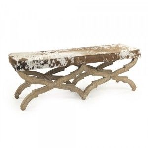 Crescenzo Rustic Cowhide Bench Canyon Manor Canyonmanor Benches Cowhide Bench Furniture Furniture Decor