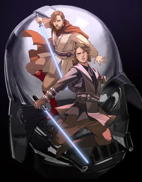 Star Wars Fan Art, Star Wars Meme, Star Wars Clone Wars, Anakin Obi Wan, Anakin And Padme, Anakin Skywalker, Counting Stars, Love Stars, Sith