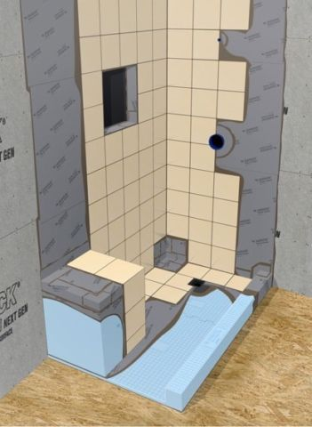 Durock Shower System Kit Is Complete Waterproofing Without Using A