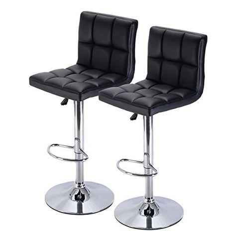 Fantastic Costway Furniture Swivel Pu Leather Barstools Chair Machost Co Dining Chair Design Ideas Machostcouk