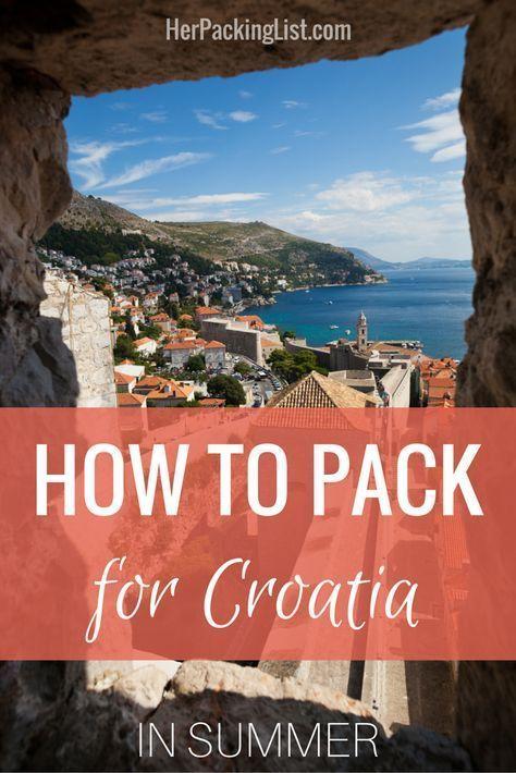 Ultimate Female Packing List For Croatia In Summer Her Packing List In 2020 Croatia Travel Croatia Travel Guide Croatia