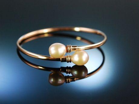 Smart Pearls! Schicke Armspange Silber 925 rosé vergoldet