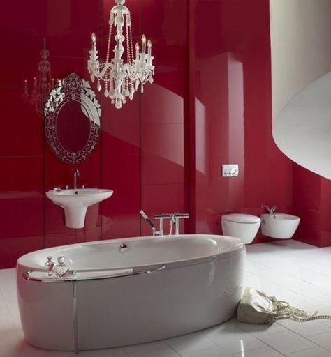 014 red-bathroom-ideas-11 3 (con imágenes) | Cuarto de ...