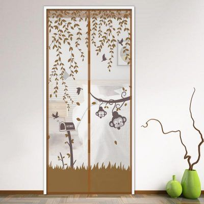 Magnetic Mesh Screen Door Curtain With Images Screen Door Curtains Screen Door Mesh Screen Door