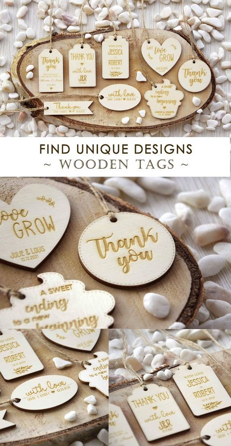 Wooden Tags that are personalized and we believe that will give that special touch to your gifts. Personalize with your names and date or with another message. #paperstudiobyc #lasercut #laserengraving #woodentags #favortags #wrappingtags #tags #personalizedtags #wood #thankyoutags #rustictags #engravedtags #woodenlabels #woodenthankyou #christmastags #customtags #withlovetags #withlove #rusticwedding #letlovegrow #hearttags #woodenheart