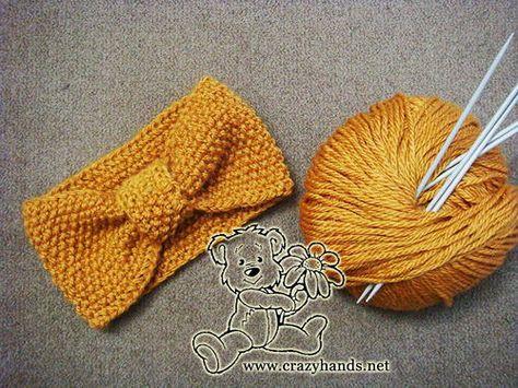 Seed Stitch Knitted Headband   AllFreeKnitting.com