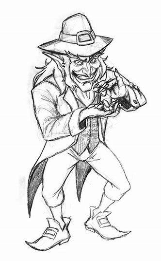 Image Result For Leprechaun Horror Coloring Pages Horror Coloring Pages Leprechaun