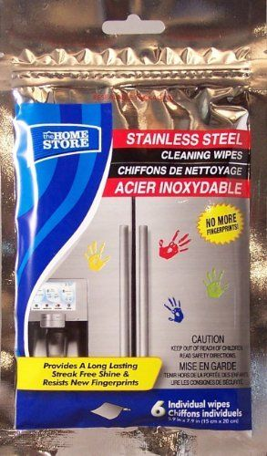 Stainless Steel Cleaning Wipes By The Home Store 5 29 Package Contains 6 Individual Wipes Contains Natural Stainless Steel Cleaning Cleaning Wipes Cleaning