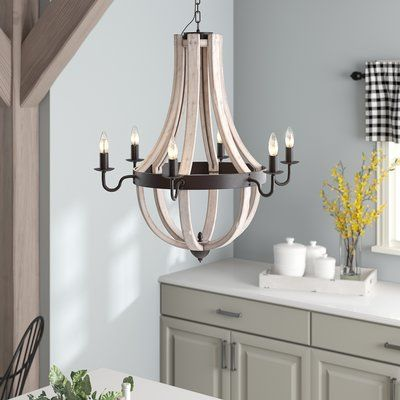 Clearance 6 Light Contemporary Crystal Chandelier