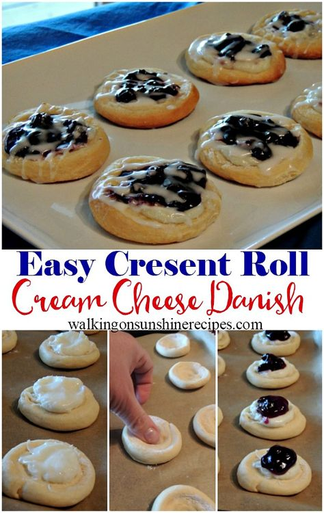 Cheese Danish Recipe with Canned Crescent Rolls Easy Cream Cheese Danish Recipe with Crescent Rolls from Walking on Sunshine Recipes.Easy Cream Cheese Danish Recipe with Crescent Rolls from Walking on Sunshine Recipes. Easy Cream Cheese Danish Recipe, Cream Cheese Crescent Rolls, Croissant Danish Recipe, Easy Danish Recipe, Crescent Roll Recipes, Pilsbury Crescent Recipes, Danish Recipes, Danish Recipe Using Crescent Rolls, Recipes With Crescent Rolls Breakfast