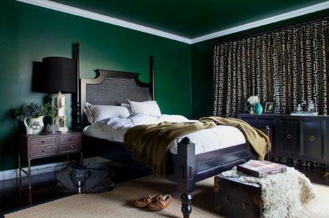 Décoration Intérieure Chambre Bedroom Vert Foncé