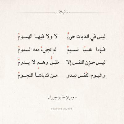 شعر جبران خليل جبران و سكوت الليل بحر عالم الأدب Arabic Poetry Kahlil Gibran School Study Tips
