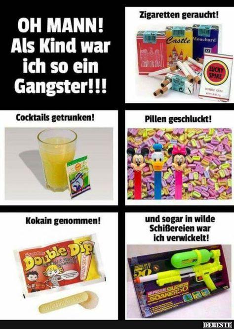 OH MANN! Als Kind war ich so ein Gangster! | Lustige Bilder, Sprüche, Witze, echt lustig