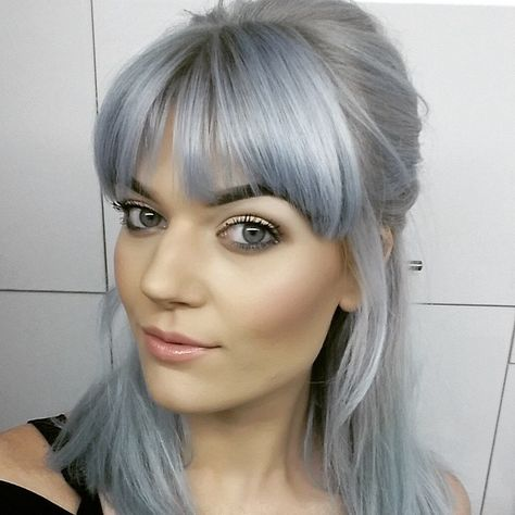 You know I love a filter! #silverhair #pastelhair #bluehair #udboutique #udcoventgarden #urbanette #muotd #mua #brows