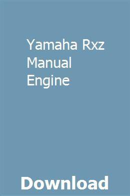 Yamaha Rxz Manual Engine | farapunsi | Yamaha rxz, Yamaha ... on