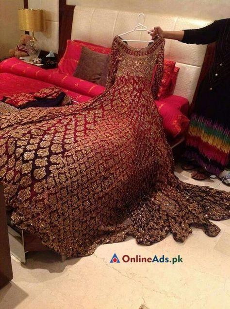 Pakistani bridal wear - Lush wedding dress Asian Pakistani Indian Bridal dress tailormade in UK and Europe www mizznoor co uk
