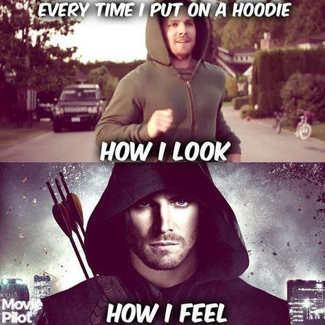 The world is always seems like a darker place. - Visit to grab an amazing super hero shirt now on sal Arrow Funny, Arrow Memes, Team Arrow, Arrow Tv, Funny Relatable Memes, Funny Quotes, Dc Comics, Flash Funny, Jokes
